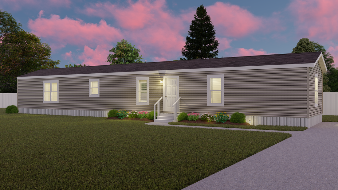 The DECISION MAKER 16763B Exterior. This Manufactured Mobile Home features 3 bedrooms and 2 baths.