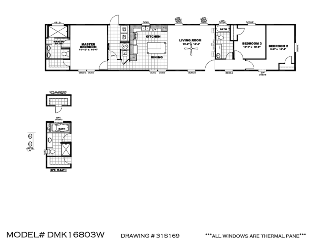The DECISION MAKER 16803W Floor Plan