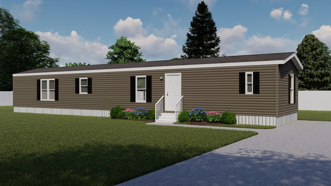 The ANNIVERSARY 16682A Exterior. This Manufactured Mobile Home features 2 bedrooms and 2 baths.