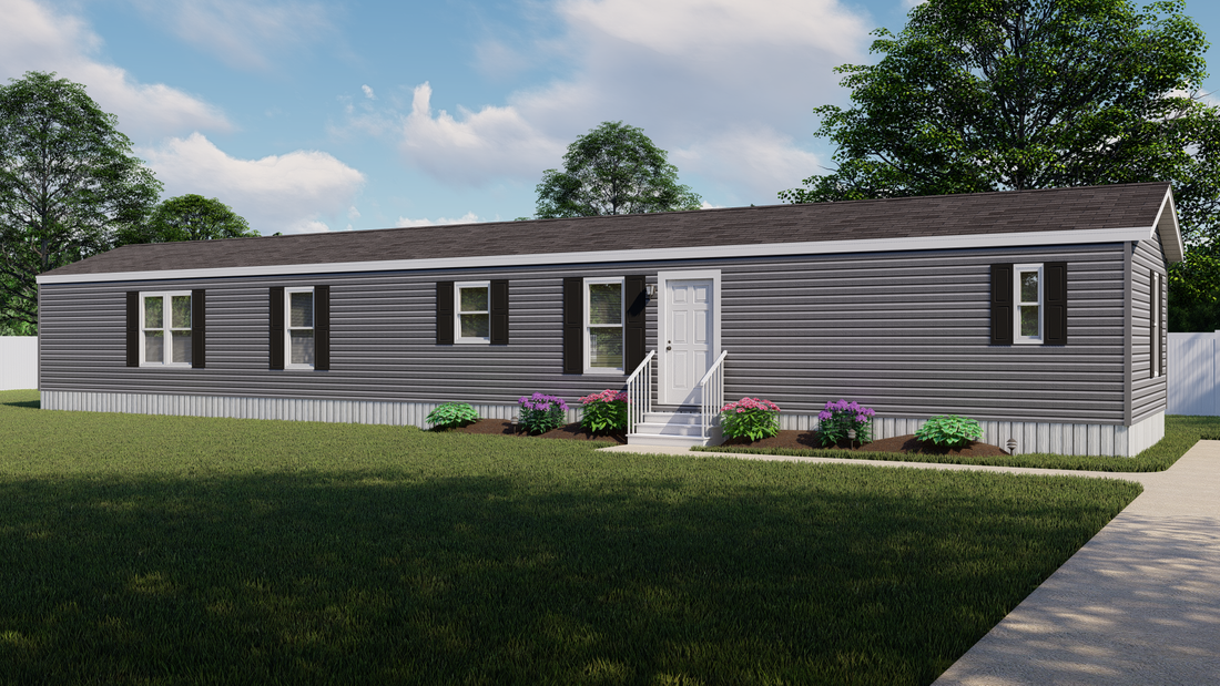 The DECISION MAKER 16764F Exterior. This Manufactured Mobile Home features 4 bedrooms and 2 baths.