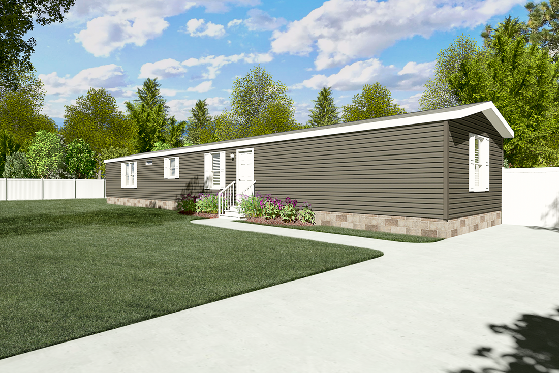 The ANNIVERSARY 16763I Exterior. This Manufactured Mobile Home features 3 bedrooms and 2 baths.