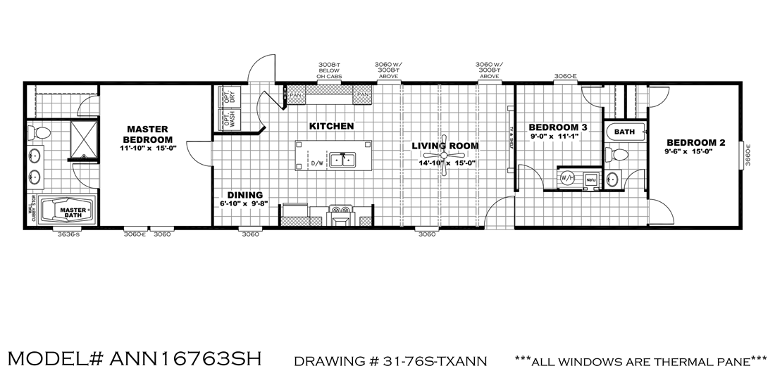 The ANNIVERSARY 16763S Floor Plan