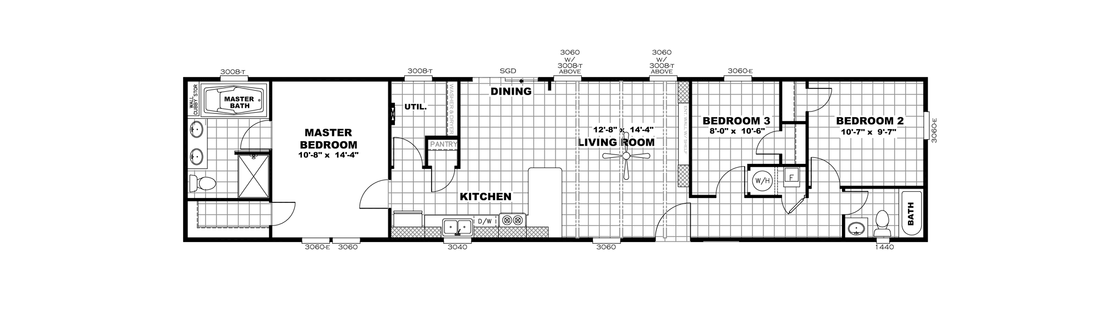 The ANNIVERSARY 16683B Floor Plan