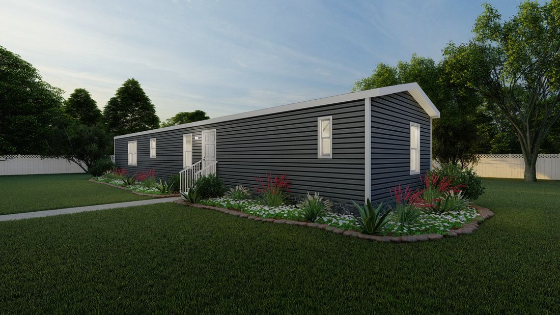 The ANNIVERSARY 16683B Exterior. This Manufactured Mobile Home features 3 bedrooms and 2 baths.
