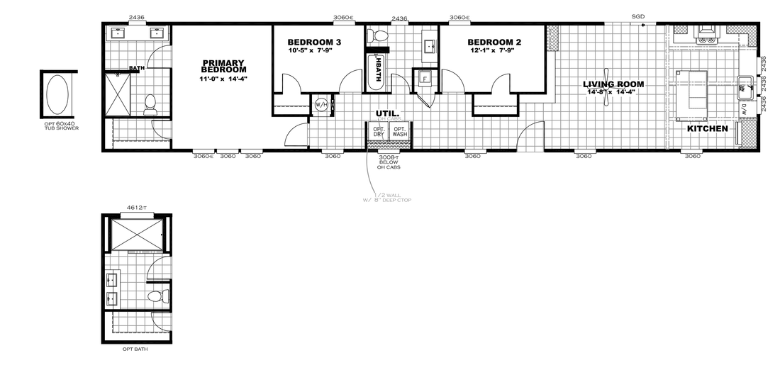 The INSPIRATION 16763K Floor Plan