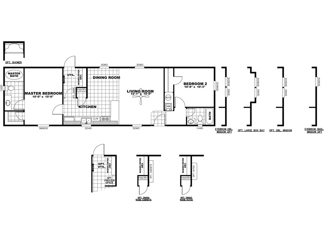 The DECISION MAKER 16562A Floor Plan