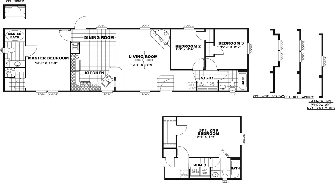 The DECISION MAKER 16603B Floor Plan